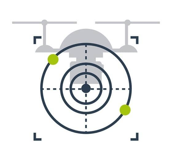 Drone home lock course lock orienteringskontrol